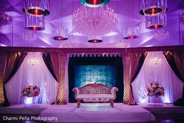 indian wedding reception,lightning,stage