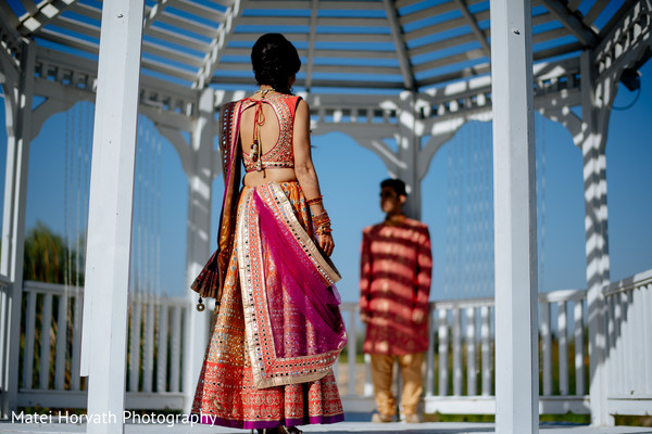 Indian couple sangeet photo shoot.