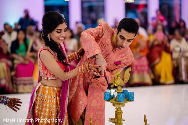 Lovely Maharani and Raja at their sangeet festivity.