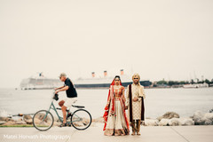 Indian couple's ceremony photo shoot.