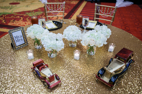 couple's table,indian wedding reception