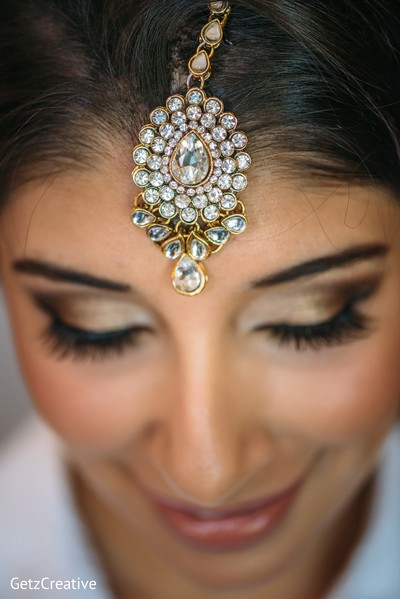 Lovely bridal tikka in Greenville, SC, Fusion Wedding by Getz Creative Photography