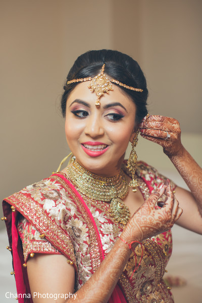 Perfect bridal hair and make up.