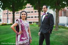 Dazzling maharani and raja.