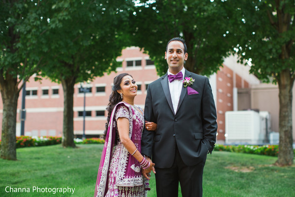 Indian couple pre-reception photography.