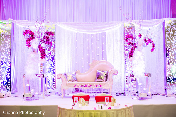 reception stage,lightning,indian wedding reception floral and decor