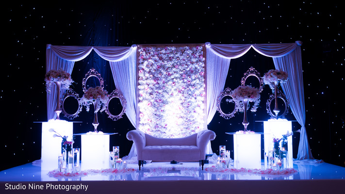 reception stage,indian wedding reception