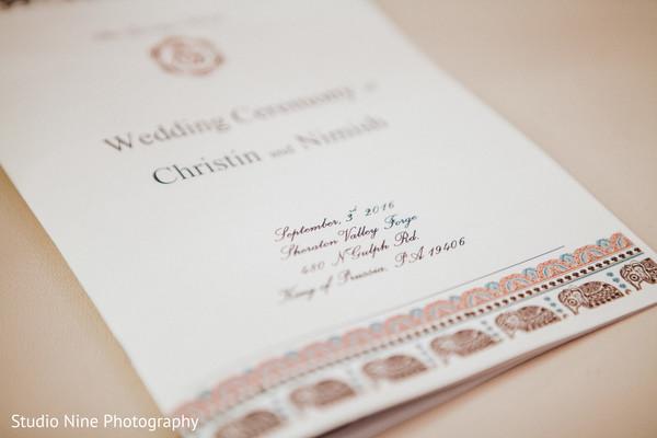 Wedding ceremony program.