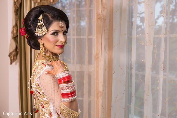 indian bride ceremony fashion,indian bride makeup