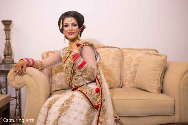 indian bride hair and makeup,indian bridal lengha