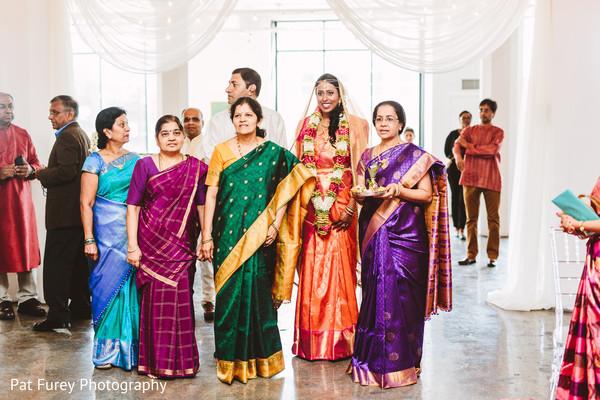 Gorgeous indian bride making her big entrance.