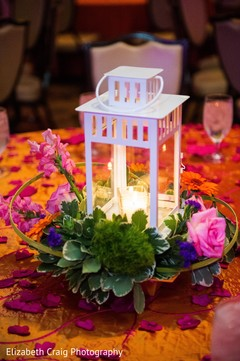 Candle lamp centerpiece.
