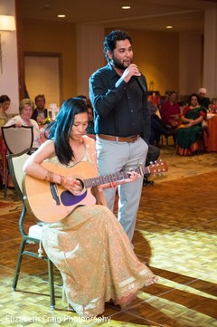 Romantic bohemian sangeet performance.