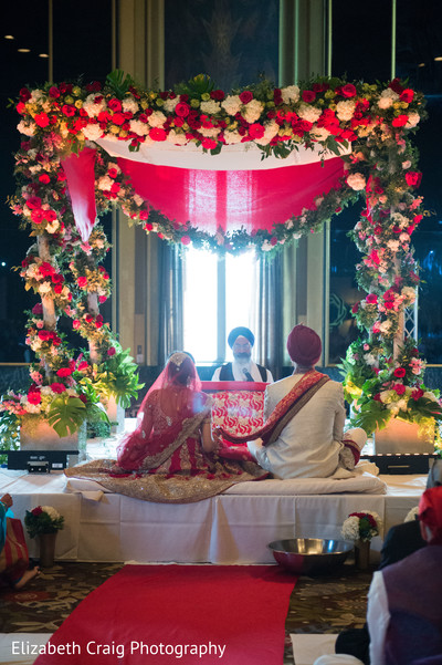flower mandap,indian weddings