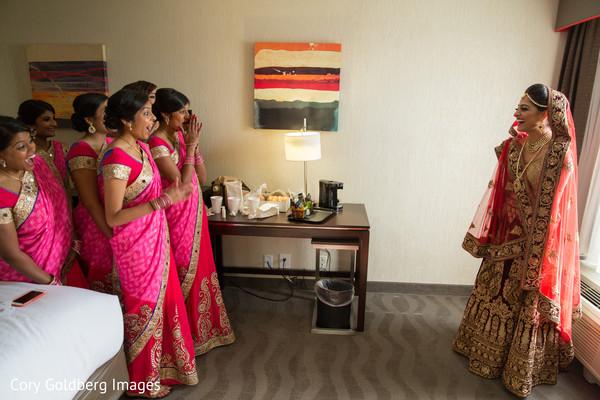 indian bridesmaids,indian bride,indian bride getting ready