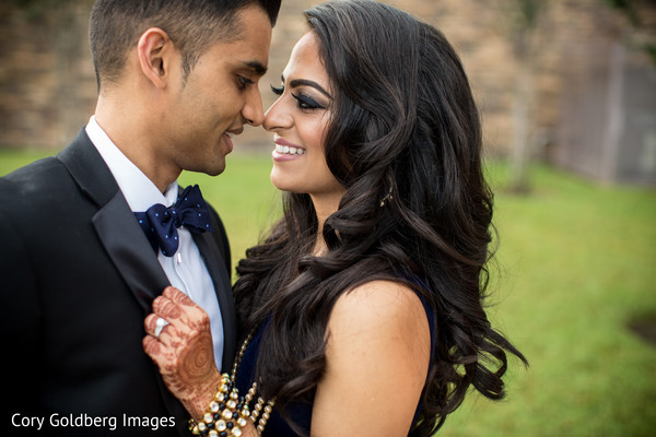 indian fusion wedding reception,indian bride and groom