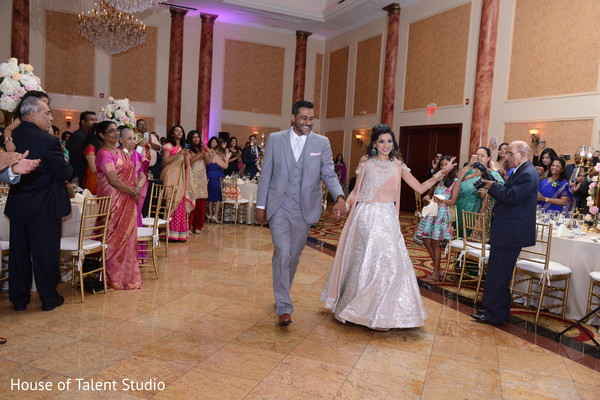 indian wedding couple,indian bridal fashions,indian fusion wedding reception