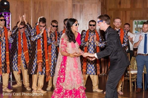 indian fusion wedding reception,indian bride