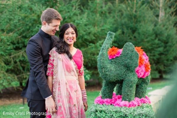 Sweet indian wedding couple.