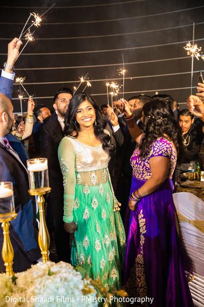 indian wedding couple,indian fusion wedding reception