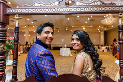 indian wedding sangeet portraits,indian wedding party portraits,indian sangeet,couple photograph at sangeet,couple photo at garba raas,garba portraits,pre-wedding photos