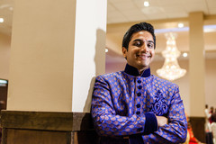 Groom posing at garba raas