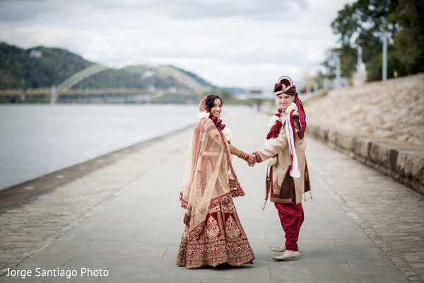 indian bridal fashions,indian groom fashion,outdoor photography