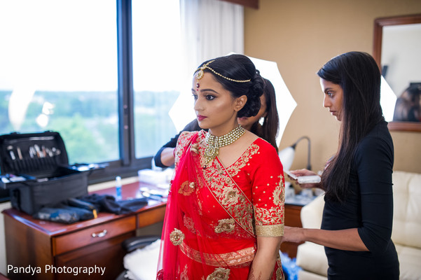 indian bridal fashions,indian bride getting ready