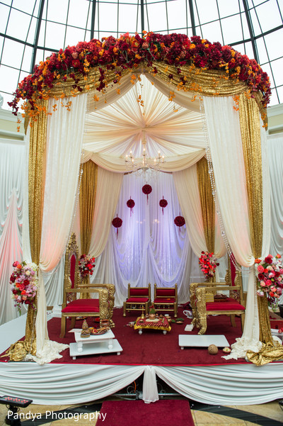 Gorgeous indian wedding mandap.