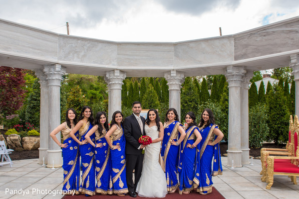 ceremony photography,indian bride,indian bridal party