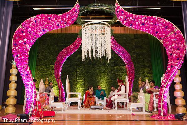 Indian groom at wedding ceremony