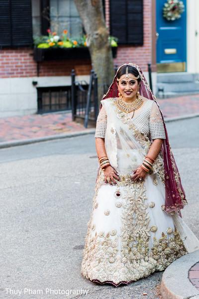 Indian bride before wedding ceremony