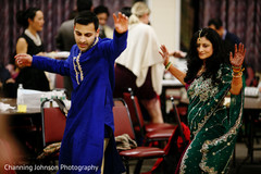 Maharani and Raja dancing at their sangeet celebration.
