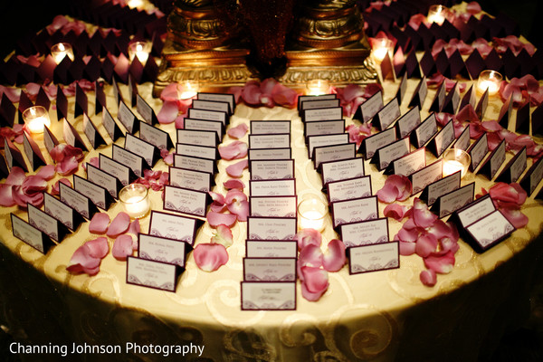 indian wedding reception,seating cards,indian wedding reception floral and decor