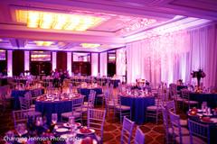 Fabulous purple reception lighting.