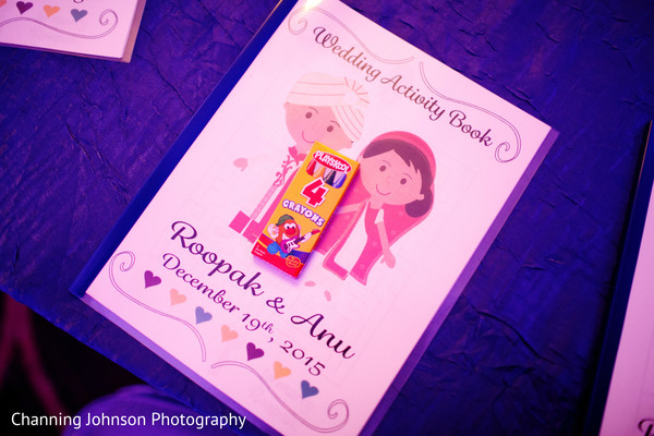Activity book for kids at wedding reception.