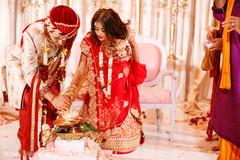 The couple invokes Agni.