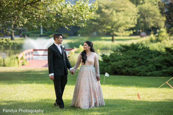 indian bride,indian fusion wedding reception,outdoor photography