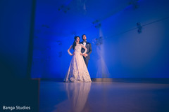Stunning indian bride and groom reception portrait.