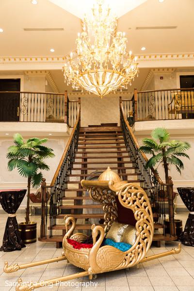 Gorgeous  golden palanquin