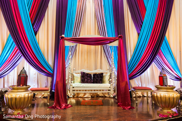 Colorful sangeet decoration.