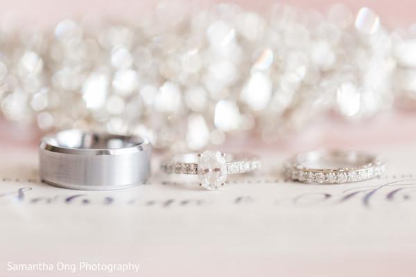 Perfect shot of wedding rings.
