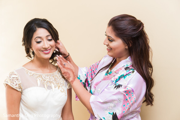 Maharani preparing her look for her big day.