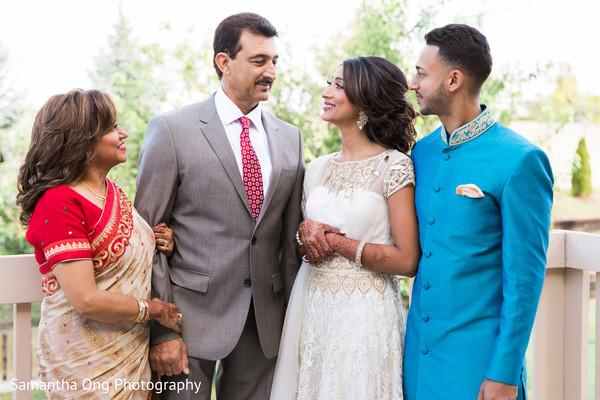 Indian bride's family portrait.