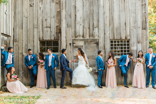 Bridal party outdoor photography.