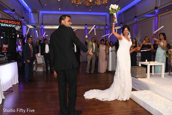 indian bridal bouquet,indian wedding reception,indain bride