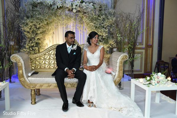 indian bride,reception stage,indian wedding reception