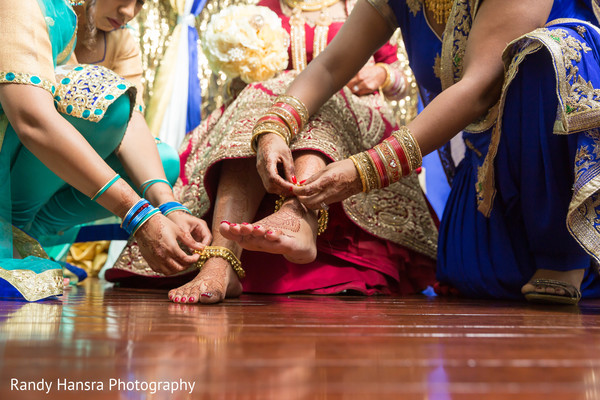 Indian bridal anklets.