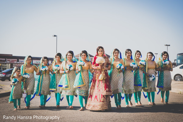 indian bridesmaids,indian bride