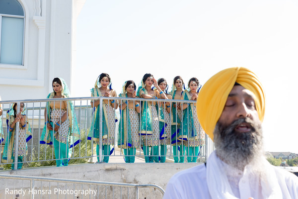 Lovely sikh indian bridesmaids.